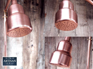 Single Handle Exposed Copper Pipe Shower - Miss Artisan