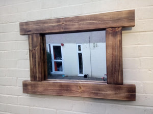 Reclaimed Solid Wood Rustic Mirror - Style 4 - Miss Artisan