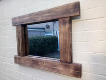 Load image into Gallery viewer, Miss Artisan - Reclaimed Solid Wood Rustic Mirror - Style 4 - Rustic / Industrial / Vintage Handmade Furniture