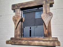 Load image into Gallery viewer, Miss Artisan - Reclaimed Solid Wood Love Heart Mirror With Shelf - Style 8 - Rustic / Industrial / Vintage Handmade Furniture