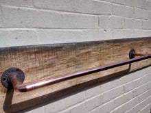 Load image into Gallery viewer, Miss Artisan - Copper Pipe Towel Rail - Rustic / Industrial / Vintage Handmade Furniture