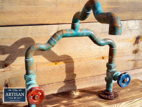Miss Artisan - One Off - Copper Pipe Mixer Faucet Tap - Rustic / Industrial / Vintage Handmade Furniture