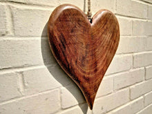 Load image into Gallery viewer, Miss Artisan - Extra Large Solid Wood Heart - Rustic / Industrial / Vintage Handmade Furniture