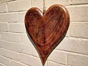 Extra Large Solid Wood Heart - Miss Artisan
