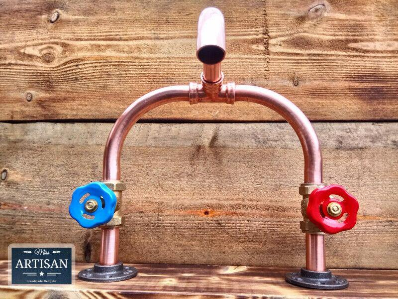 Miss Artisan - Copper Pipe Mixer Swivel Tap - Rustic / Industrial / Vintage Handmade Furniture