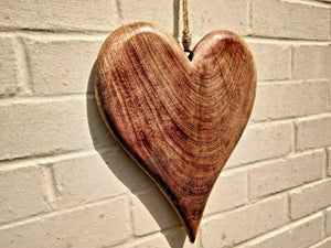 Miss Artisan - Extra Large Solid Wood Heart - Rustic / Industrial / Vintage Handmade Furniture