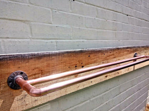 Miss Artisan - Double Copper Pipe Towel Rail - Rustic / Industrial / Vintage Handmade Furniture