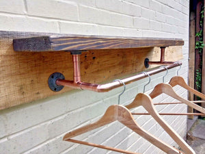 Miss Artisan - 15m Copper Pipe Side Tee Flange - Rustic / Industrial / Vintage Handmade Furniture