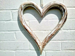 Extra Large Open Solid Wood Heart - Miss Artisan