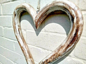 Miss Artisan - Extra Large Open Solid Wood Heart - Rustic / Industrial / Vintage Handmade Furniture