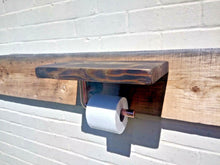 Load image into Gallery viewer, Miss Artisan - Toilet Roll Holder Shelf - Rustic / Industrial / Vintage Handmade Furniture