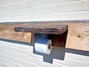 Miss Artisan - Toilet Roll Holder Shelf - Rustic / Industrial / Vintage Handmade Furniture