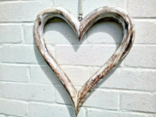 Load image into Gallery viewer, Miss Artisan - Extra Large Open Solid Wood Heart - Rustic / Industrial / Vintage Handmade Furniture