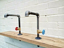 Load image into Gallery viewer, Miss Artisan - Pair Of Old Cast Iron Taps - Rustic / Industrial / Vintage Handmade Furniture