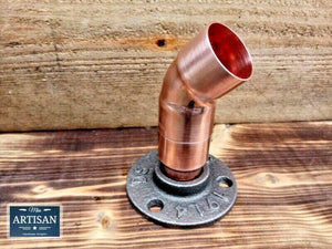 Miss Artisan - 28mm Copper Pipe 45 Degree Flange - Rustic / Industrial / Vintage Handmade Furniture