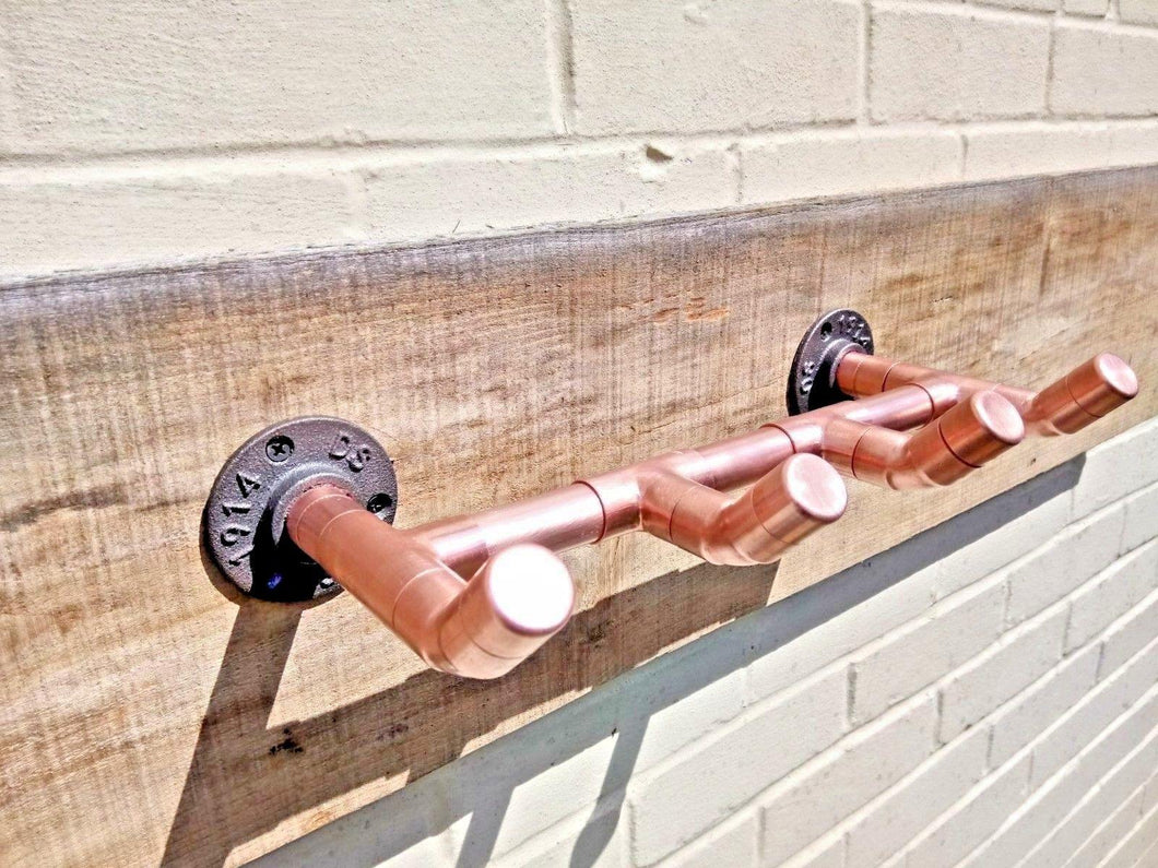 Copper Pipe Coat Hooks - Miss Artisan