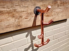 Load image into Gallery viewer, Miss Artisan - Copper Pipe Twisted Drop Hook - Rustic / Industrial / Vintage Handmade Furniture