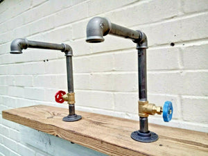 Miss Artisan - Pair Of Old Cast Iron Taps - Rustic / Industrial / Vintage Handmade Furniture