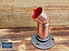 Load image into Gallery viewer, Miss Artisan - 28mm Copper Pipe 45 Degree Flange - Rustic / Industrial / Vintage Handmade Furniture