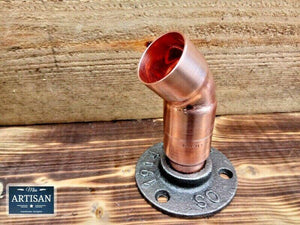 28mm Copper Pipe 45 Degree Flange - Miss Artisan