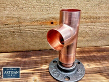Load image into Gallery viewer, 28mm Copper Pipe Side Tee Flange - Miss Artisan