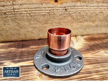 Load image into Gallery viewer, Miss Artisan - 28mm Copper Iron Floor / Wall Flange Pipe Mount - Rustic / Industrial / Vintage Handmade Furniture