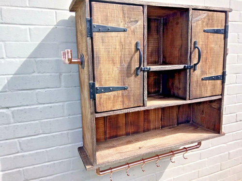 Miss Artisan - Large Rustic Kitchen Bathroom Wall Cabinet - Rustic / Industrial / Vintage Handmade Furniture
