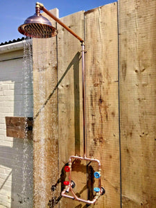 Miss Artisan - Copper Rainfall Shower With Tap - Rustic / Industrial / Vintage Handmade Furniture
