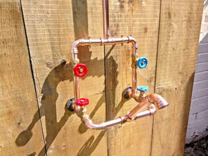 Miss Artisan - Copper Rainfall Shower With Faucet Tap - Rustic / Industrial / Vintage Handmade Furniture