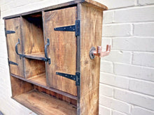 Load image into Gallery viewer, Miss Artisan - Large Rustic Kitchen Bathroom Wall Cabinet - Rustic / Industrial / Vintage Handmade Furniture