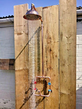 Load image into Gallery viewer, Miss Artisan - Copper Rainfall Shower With Tap - Rustic / Industrial / Vintage Handmade Furniture