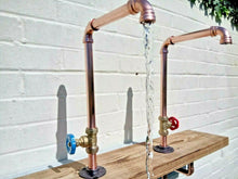 Load image into Gallery viewer, Miss Artisan - 1 x  Copper Pipe Swivel Tap Faucet - Rustic / Industrial / Vintage Handmade Furniture