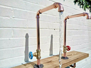 Miss Artisan - Pair Of Copper Pipe Swivel Taps - Rustic / Industrial / Vintage Handmade Furniture