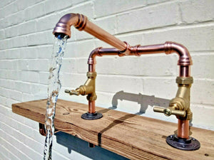 Miss Artisan - Copper Pipe Swivel Mixer Faucet Taps - Rustic / Industrial / Vintage Handmade Furniture