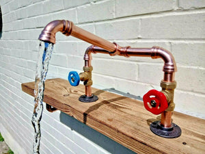 Miss Artisan - Copper Pipe Mixer Swivel Taps - Rustic / Industrial / Vintage Handmade Furniture