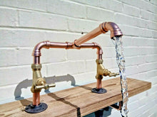 Load image into Gallery viewer, Miss Artisan - Copper Pipe Swivel Mixer Faucet Taps - Rustic / Industrial / Vintage Handmade Furniture