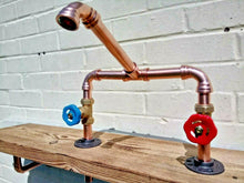 Load image into Gallery viewer, Miss Artisan - Copper Pipe Mixer Swivel Taps - Rustic / Industrial / Vintage Handmade Furniture