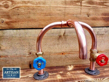 Load image into Gallery viewer, Miss Artisan - Copper Pipe Mixer Swivel Tap - Rustic / Industrial / Vintage Handmade Furniture