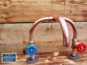 Miss Artisan - Copper Pipe Mixer Swivel Faucet Taps - Rustic / Industrial / Vintage Handmade Furniture
