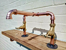 Load image into Gallery viewer, Miss Artisan - Copper Pipe Swivel Mixer Taps - Rustic / Industrial / Vintage Handmade Furniture
