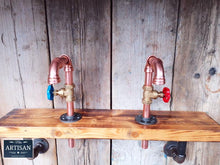 Load image into Gallery viewer, Pair Of Small Copper Pipe Swivel Faucet Taps - Miss Artisan