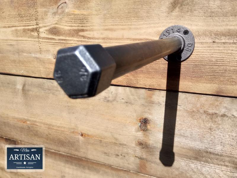 Straight Cast Iron / Steel Clothes Rail - Wall Mounted - Miss Artisan