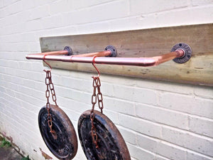 Miss Artisan - 15m Copper Pipe 45 Degree Flange - Rustic / Industrial / Vintage Handmade Furniture