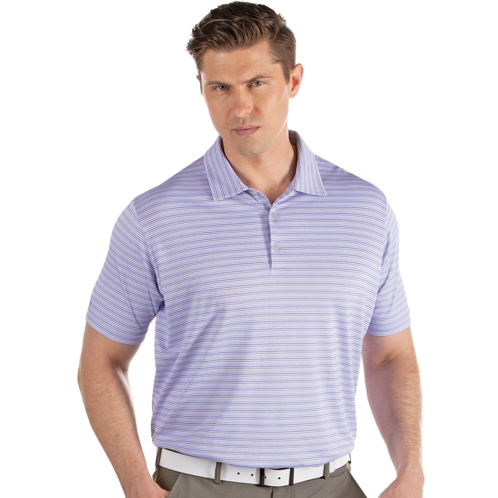 Men's Antigua Access Polo White / Blueberry