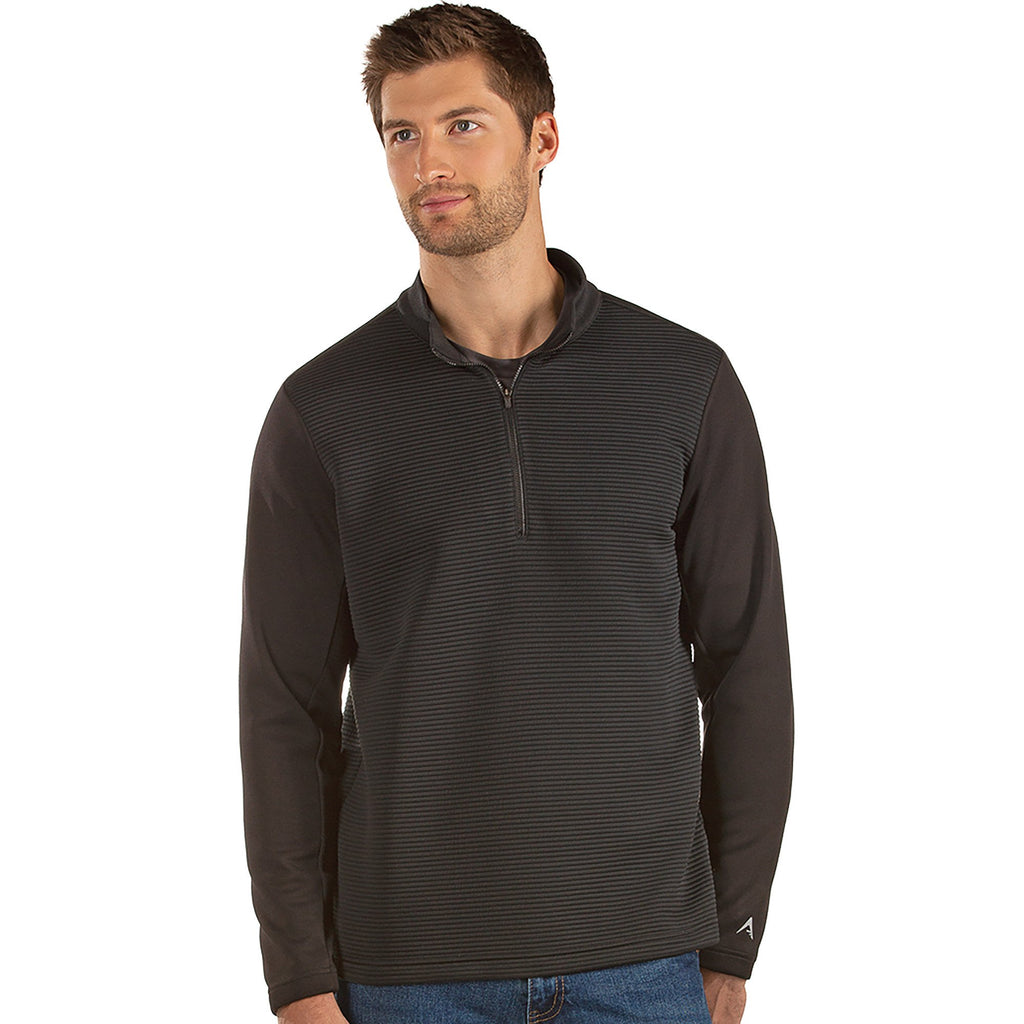 Men's Antigua Canyon 1/2 Zip Pullover Black