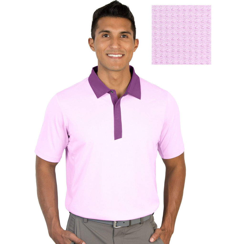Men's Antigua Grit Short Sleeve Polo Plum Multi