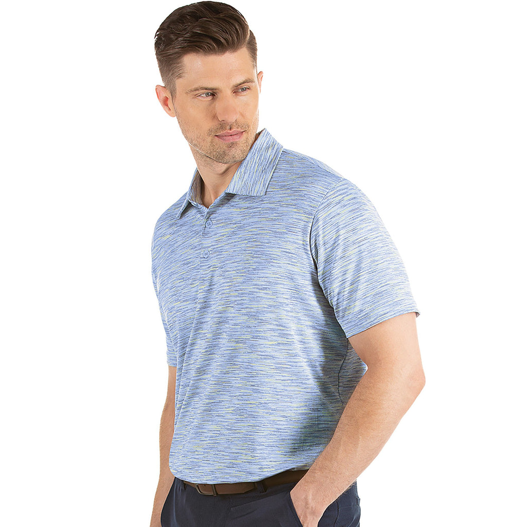 Men's Antigua Payson Short Sleeve Polo Denim Multi