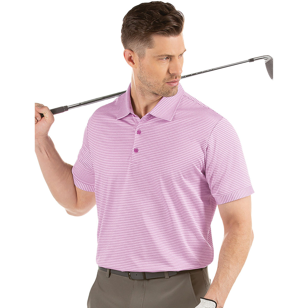 Men's Antigua Plaza Short Sleeve Polo Plum Heather Multi