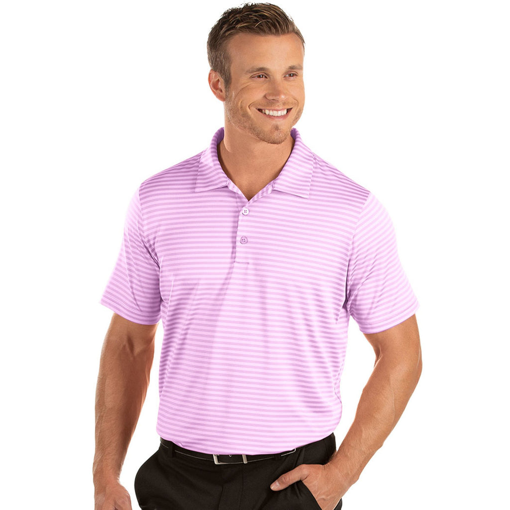 Men's Antigua Rescue Short Sleeve Polo Plum Multi