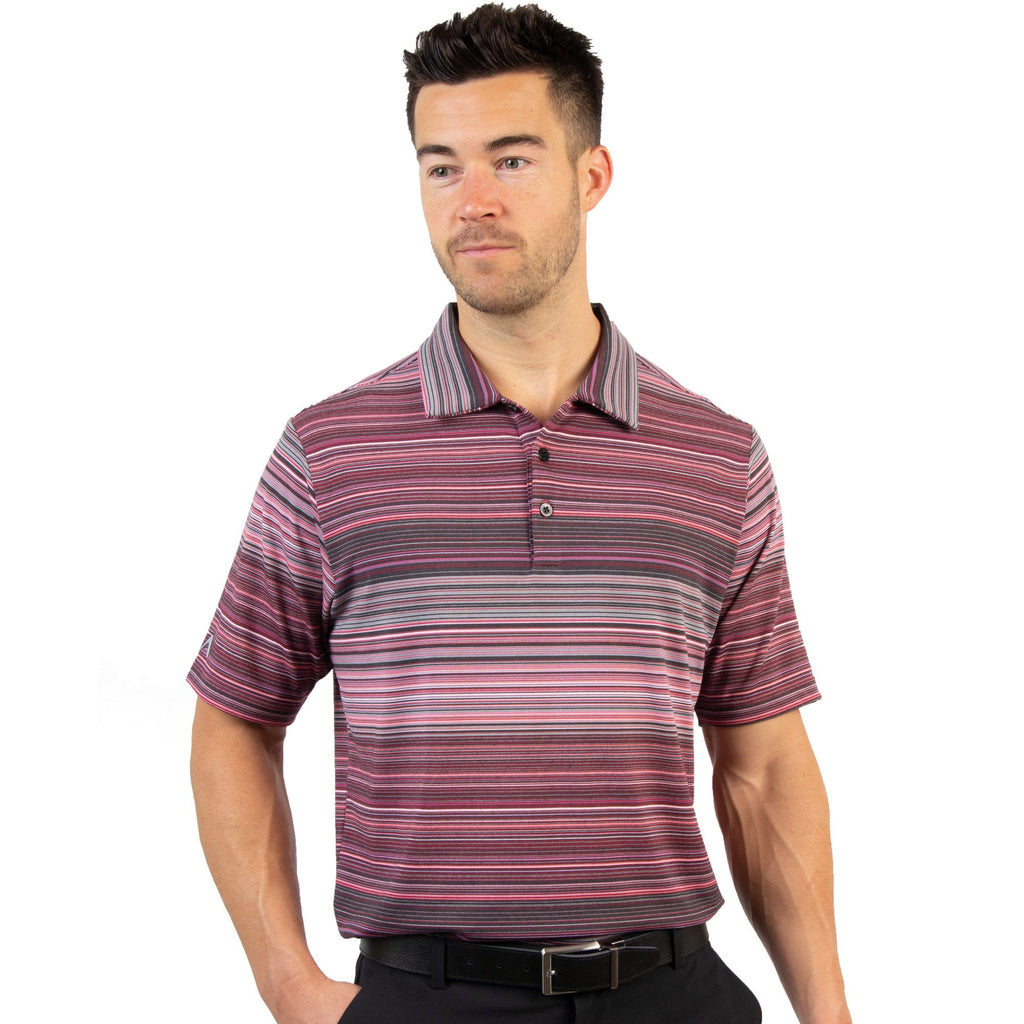 Men's Antigua Sureshot Polo Peach Multi